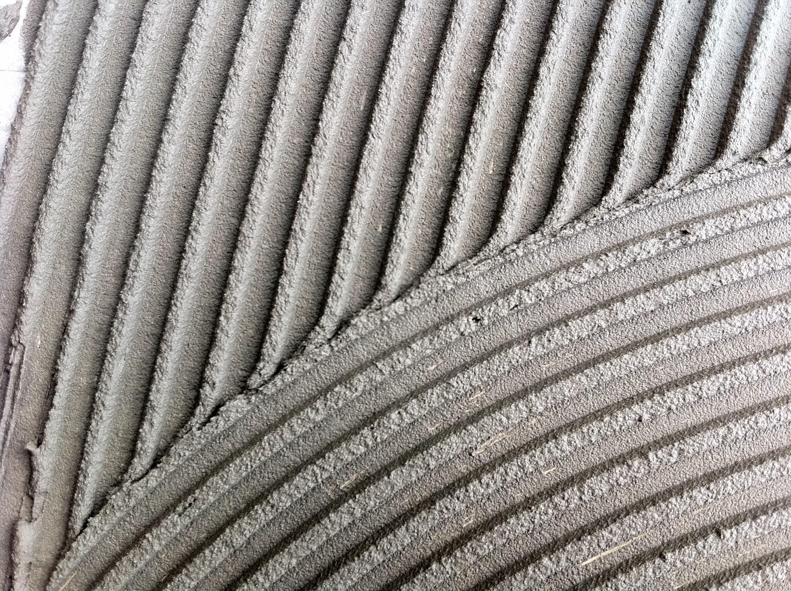 Ceramic tile mortar thickness